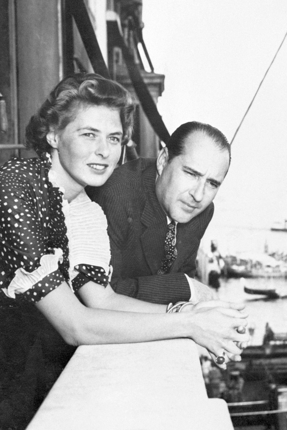 "<p>Back in the '40s, the Italian director received a letter from Bergman suggesting that their <a href=""https://www.marieclaire.com/celebrity/news/g2994/scandalous-hollywood-flings/?slide=2"" rel=""nofollow noopener"" target=""_blank"" data-ylk=""slk:work should be more flirty"" class=""link rapid-noclick-resp"">work should be more flirty</a>. Despite being married to other people, their affair started soon after she was cast in his film <em>Stromboli</em>. </p>"