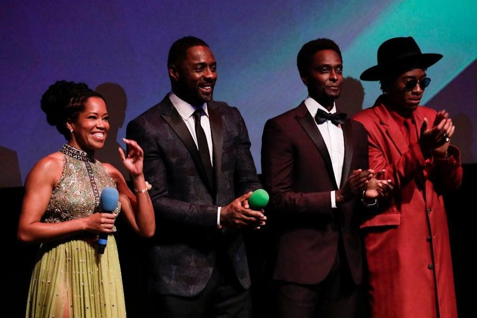 Regina King, Idris Elba, Edi Gathegi and RJ Cyler were among the stars at the event (Getty Images for BFI)