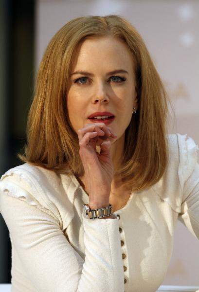 FILE - In this March 24, 2013 file photo, Australian actress Nicole Kidman attends a watch presentation in Vienna, Austria. The Cannes Film Festival has announced Wednesday April, 24, 2013 the starriest lineup in years for this 2013's competition jury that includes academy award-winners Nicole Kidman, Christopher Waltz and Ang Lee. (AP Photo/Ronald Zak, File)