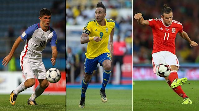 """<p>Much has been made about the nations who <em>didn't</em> qualify for the 2018 World Cup, and for good reason. The list is loaded with international powers and World Cup regulars, and four reigning regional champions–Chile, USA, New Zealand and Cameroon–won't be making the trip to Russia.</p><p><a href=""""https://www.si.com/soccer/photo/2017/11/15/2018-world-cup-teams-russia-32-countries"""" rel=""""nofollow noopener"""" target=""""_blank"""" data-ylk=""""slk:The field in Russia boasts plenty of intrigue and star power"""" class=""""link rapid-noclick-resp"""">The field in Russia boasts plenty of intrigue and star power</a>, and those competing on the grand stage will command the spotlight for the next eight months on the journey to the top prize in the international game. Before that, though, there's still reason to look back at the series of stars who won't be competing at the World Cup due to their nations' inability to get there. There are so many, in fact, that carving out a legitimate, World Cup-like, 23-man roster isn't all that difficult of a task. </p><p>Sticking with players who won't be at the World Cup because of a failure to qualify and not because of a current standing with their national team that <em>did</em> qualify and a traditional roster construction, here's a team of star players that you won't be seeing next summer under the bright lights in Russia.</p><h3><strong>GOALKEEPERS</strong></h3><p><strong>Gianluigi Buffon (Italy), Jan Oblak (Slovenia), Jasper Cillessen (Netherlands)</strong></p><p>It's an <a href=""""https://www.si.com/soccer/2017/11/15/fanview-italys-tragedy-san-siro-unfitting-end-gianluigi-buffons-glittering-career"""" rel=""""nofollow noopener"""" target=""""_blank"""" data-ylk=""""slk:absolute shame that Buffon won't be able to exit on his own terms"""" class=""""link rapid-noclick-resp"""">absolute shame that Buffon won't be able to exit on his own terms</a> in the World Cup. The 2006 winner is universally adored and revered and was one of the last active holdovers from that Italian t"""