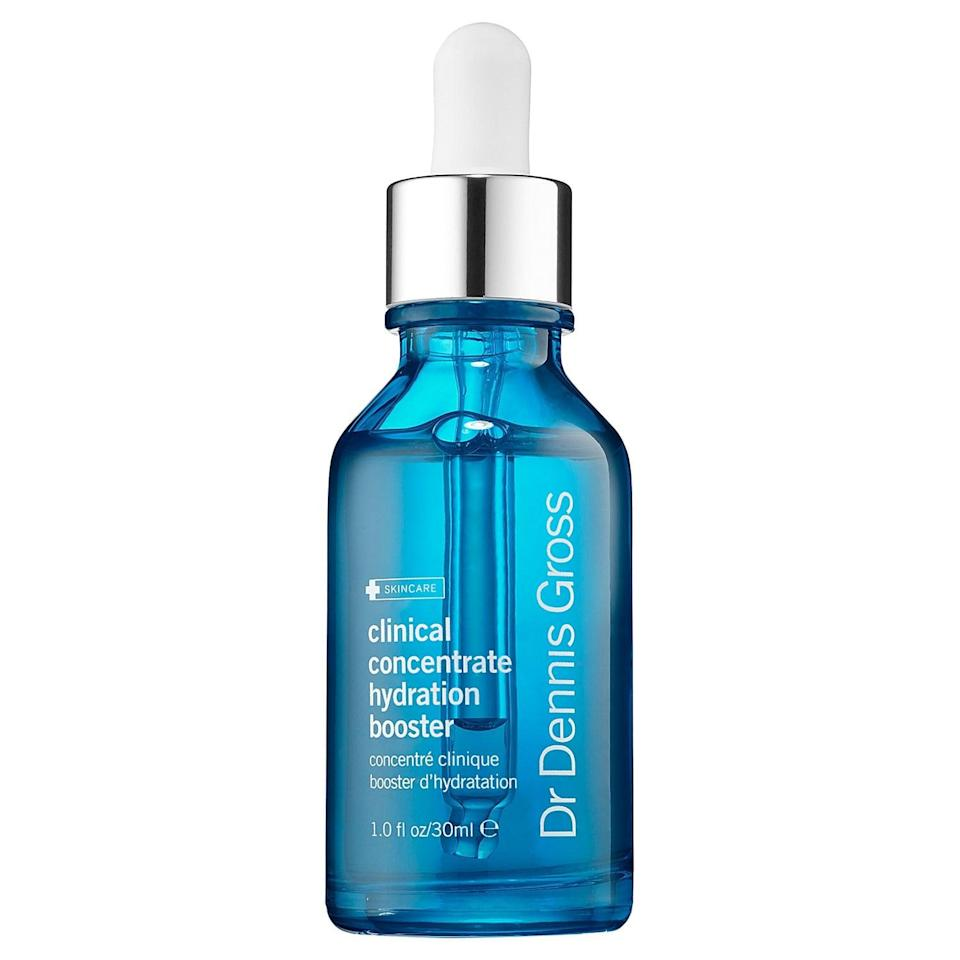 <p>If your skin could use an extra boost of hydration, try this <span>Dr. Dennis Gross Skincare Clinical Concentrate Hydration Booster</span> ($68). You can use it on it's own, or apply a few drops to your serum or moisturizer. Plus, it's amazing for sensitive or acne-prone skin.</p>