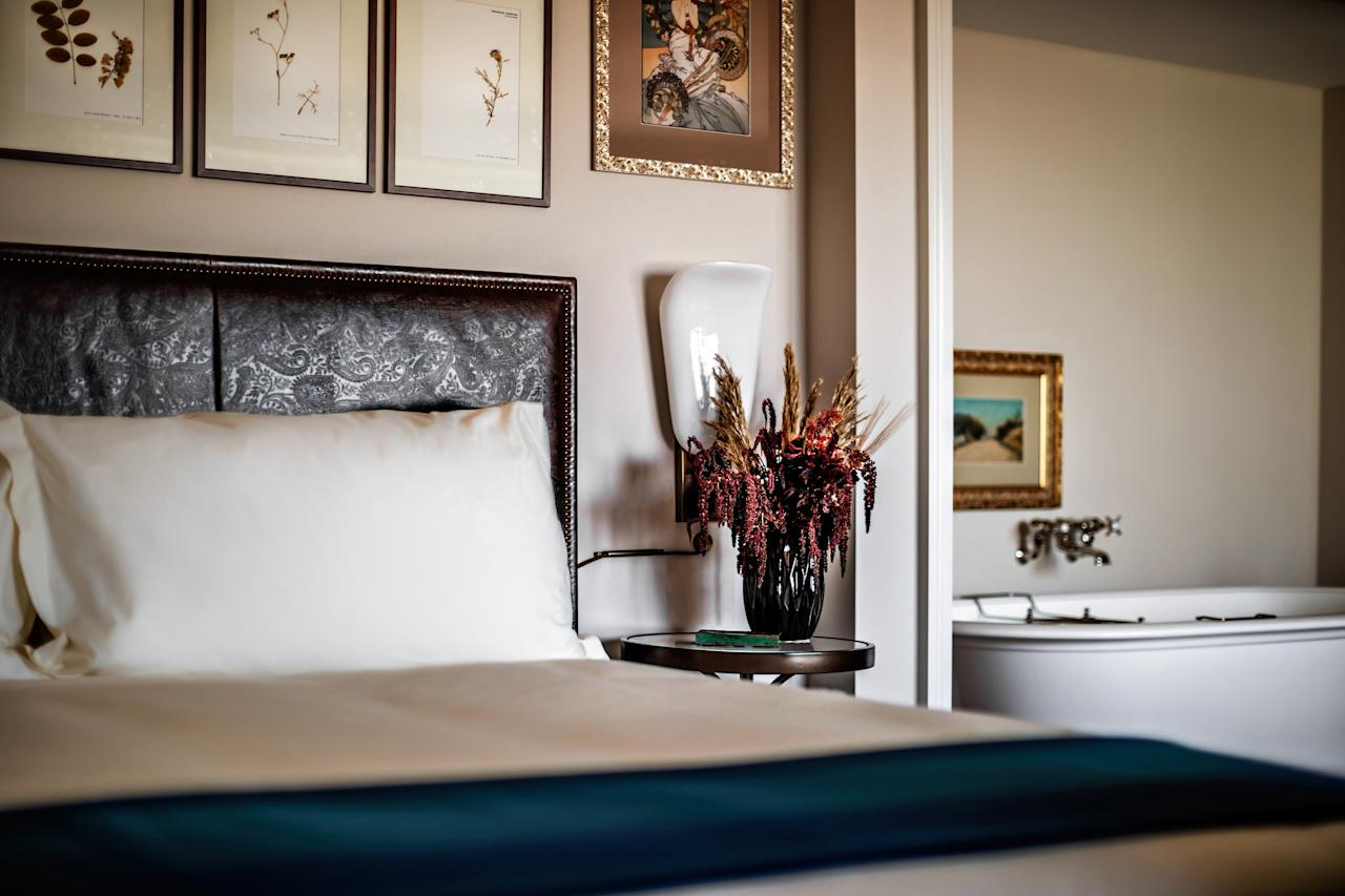 """<p><strong>How did it strike you on arrival?</strong><br> NoMad Las Vegas is a hotel within a hotel; specifically, the <a href=""""https://www.cntraveler.com/hotels/las-vegas/park-mgm-las-vegas?mbid=synd_yahoo_rss"""">Park MGM</a>, the completely re-thought former Monte Carlo. But unlike some other hotel-in-hotel pairings in Las Vegas, there's some synchronicity here, since the Sydell Group had a hand in the redesign of the entire property. But while Park MGM is fun and accessible, with the very cool <a href=""""https://www.cntraveler.com/activities/las-vegas/park-theater?mbid=synd_yahoo_rss"""">Park Theater</a> off the lobby (Lady Gaga, Cher, and Aerosmith are its current headliners); a <a href=""""https://www.cntraveler.com/story/inside-eataly-las-vegas?mbid=synd_yahoo_rss"""">fabulous and fun Eataly</a> as a de facto food court; and chef restaurateurs like Roy Choi amping up the energy, NoMad is its totally grown-up side. It's all old-world luxury here, with sexy dark corners and a grand, library-inspired restaurant (filled with the actual collection of David Rockefeller). When you walk into NoMad, it's like wandering into some amazing secret hidey-hole. There's no over-the-top lobby—you go through a discreet red awning and find yourself in a quiet, tapestry-surrounded registration room—and an art-filled model of discretion that sends you via elevator to the top four floors of Park MGM.</p> <p><strong>Give us the backstory on this place.</strong> When MGM Resorts International decided to redo the old Monte Carlo hotel, the company partnered on the NoMad concept with Sydell Group, chef Daniel Humm, and restaurateur Will Guidara, the team behind the brand's flagship in New York City, among other properties. The design takes its cues from the classical theaters of France and peppers in some clever, decidedly non-Vegas-fied references, including the restaurant's velvet banquettes, which were inspired by the Royal Portuguese Cabinet of Reading in Rio de Janeiro. And the team kept in pl"""