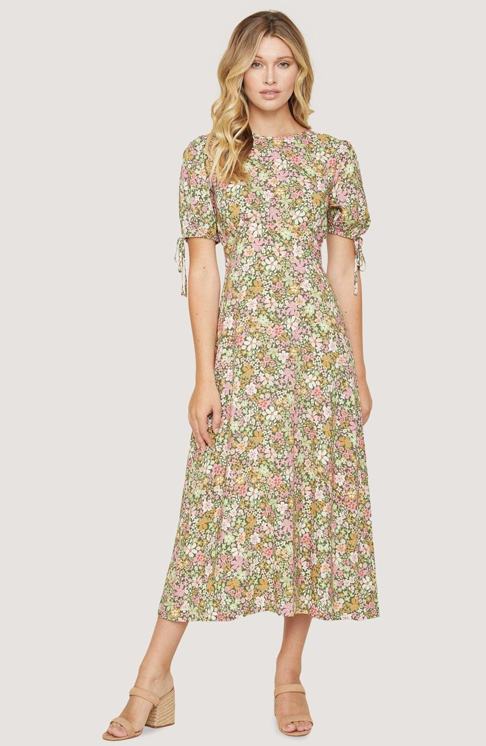 <p>This <span>Lost + Wander Getaway Island Floral Midi Dress</span> ($89, originally $118) is so romantic and sweet.</p>