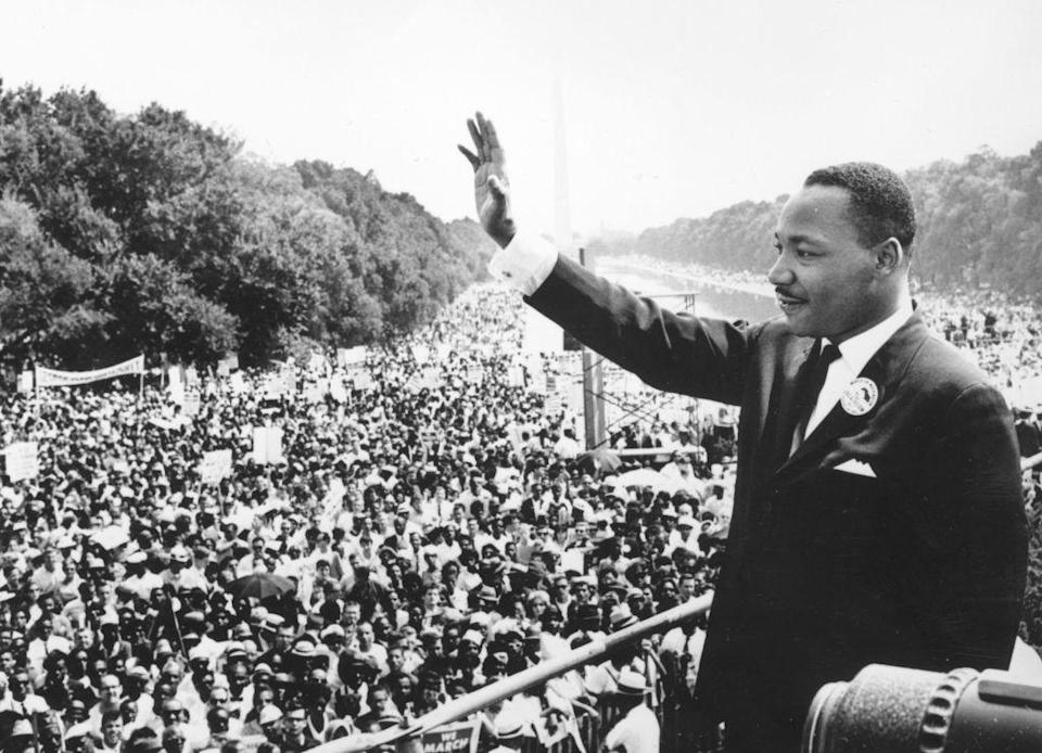 """Martin Luther King bei seiner """"I have a Dream""""-Rede."""