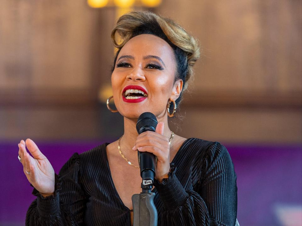 <p>Emeli Sande is set to perform at The Fayre Of St James's Christmas concert hosted by Quintessentially Foundation</p> (Getty)