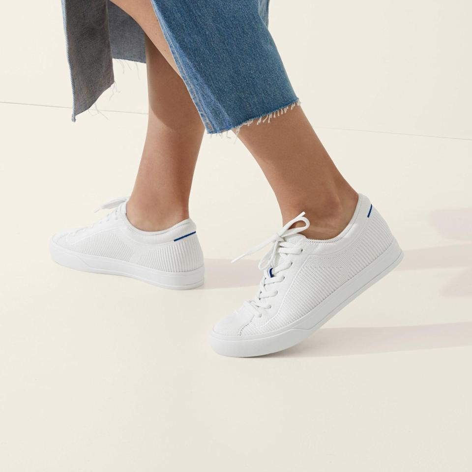<p><span>Rothy's Lace-Up Sneakers in Bright White</span> ($165)</p>