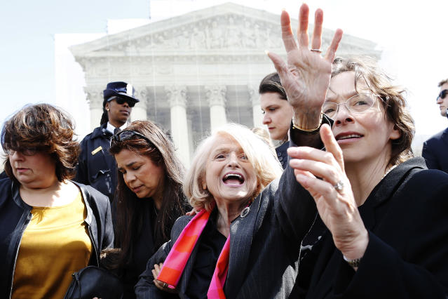 <p>The gay-rights activist, whose landmark Supreme Court case led to same-sex married couples being granted federal recognition for the first time, died on Sept. 12 at age 88. (Photo: Jonathan Ernst/Reuters) </p>