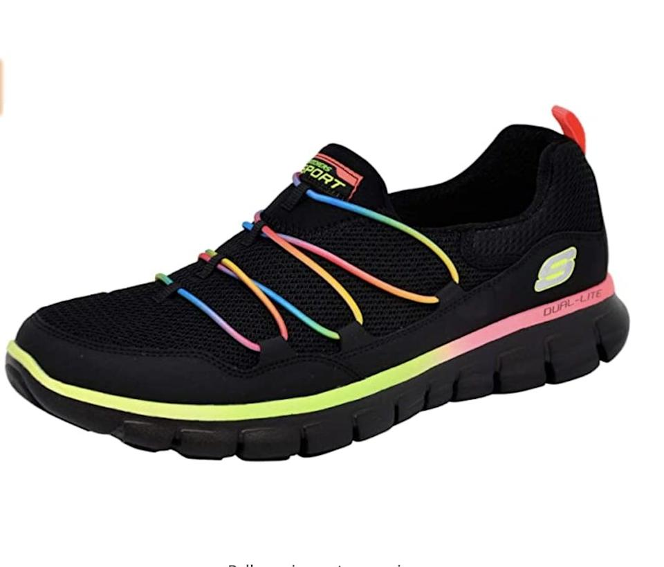 <p>These <span>Skechers Loving Life Memory Foam Sneakers</span> ($40 - $65) are bold in an eye-catching way.</p>