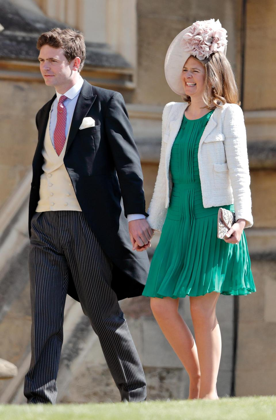 Lady Laura Meade, pictured with husband James at the 2018 royal wedding, has been named one of Prince Louis's godmothers. (Photo: Max Mumby/Indigo/Getty Images)