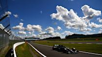 <p>Lewis Hamilton of Great Britain driving the (44) Mercedes AMG Petronas F1 Team Mercedes W11 during qualifying for the F1 Grand Prix of Great Britain at Silverstone on August 01, 2020 in Northampton, England</p>