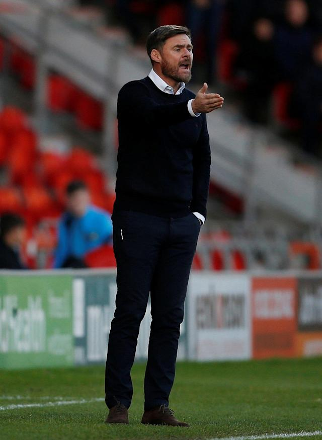 Soccer Football - FA Cup Second Round - Doncaster Rovers vs Scunthorpe United - Keepmoat Stadium, Doncaster, Britain - December 3, 2017 Scunthorpe United Manager Graham Alexander Action Images/Craig Brough