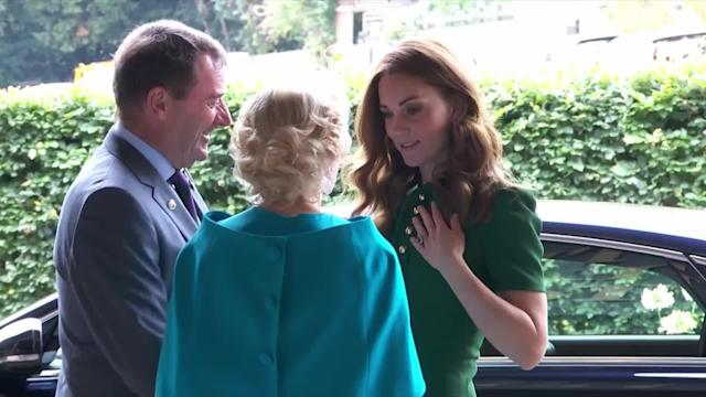 Meghan Markle and Kate Middleton had a surprise guest join them at Wimbledon on Saturday morning: Kate's younger sister, Pippa.
