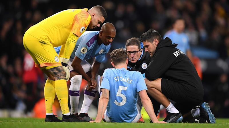 More defensive injury woe for Man City as Stones limps out of derby clash with Man Utd
