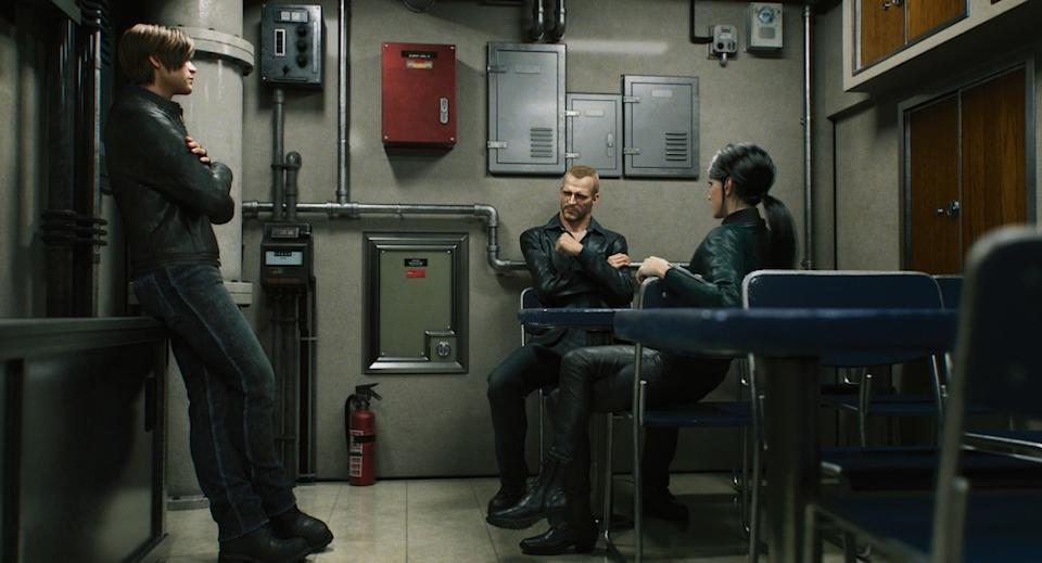 Leon (Nick Apostolides), Jason (Ray Chase), and Shen May (Jona Xiao) in Resident Evil: Infinite Darkness (Netflix)