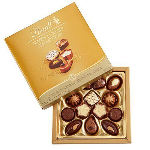 """<p><strong>Lindt</strong></p><p>amazon.com</p><p><strong>$16.27</strong></p><p><a href=""""https://www.amazon.com/dp/B00AEAQJNS?tag=syn-yahoo-20&ascsubtag=%5Bartid%7C10063.g.35014712%5Bsrc%7Cyahoo-us"""" rel=""""nofollow noopener"""" target=""""_blank"""" data-ylk=""""slk:Shop Now"""" class=""""link rapid-noclick-resp"""">Shop Now</a></p><p>For the chocolate lover who craves a little of everything, this box from Lindt features milk, dark, and white chocolate delicacies that are sure to please. </p>"""