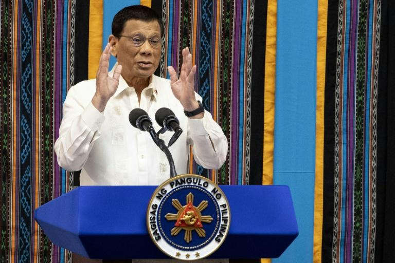Philippine President Rodrigo Duterte is a frequent critic of the country's influential Catholic church (AFP Photo/Noel CELIS)