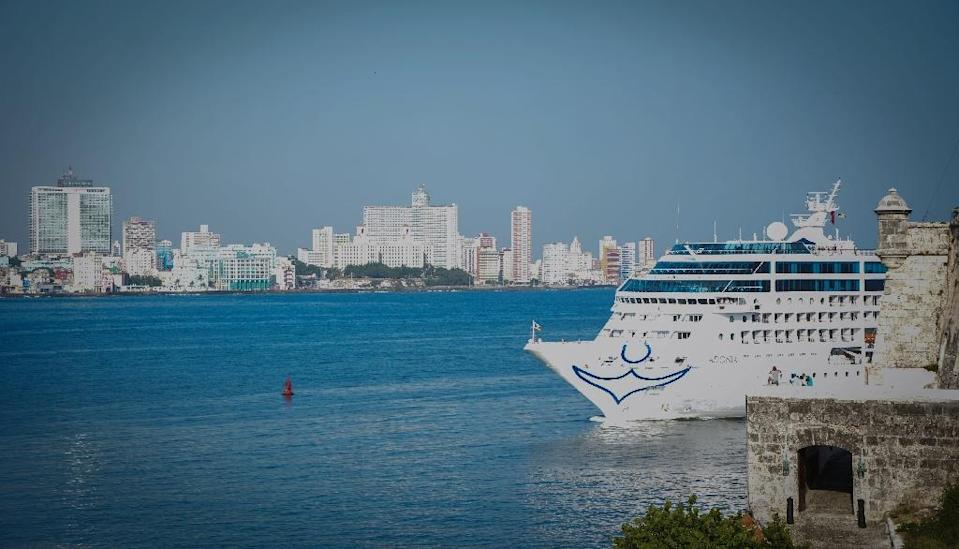 Carnival is the first cruise line company to win permission from both the US and Cuban governments to offer trips (AFP Photo/Jorge Beltran)