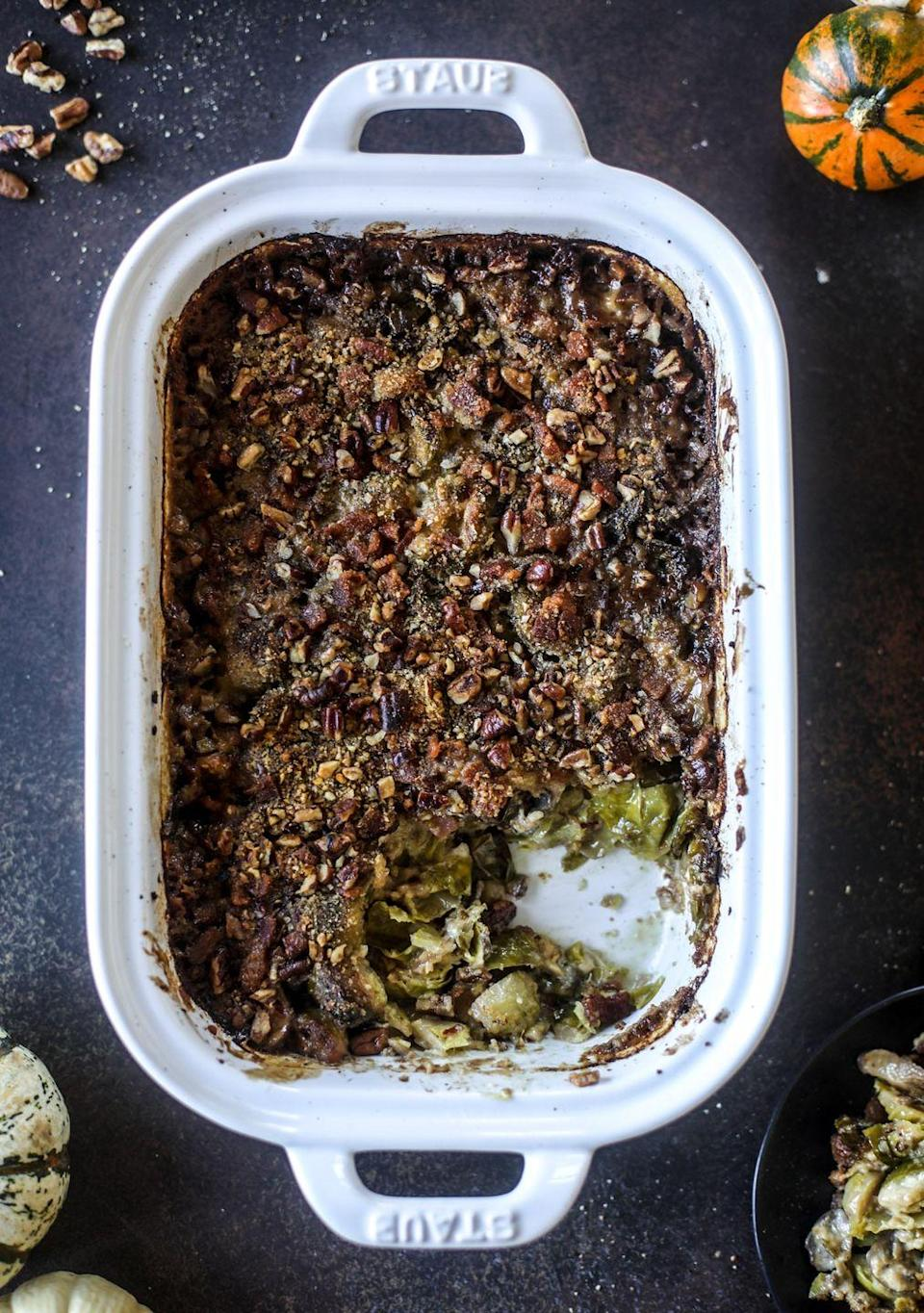 "<p>What <em>can't</em> you make a gratin out of? This Brussels sprouts dish has pancetta and plenty of cheese for a hearty bite.</p><p><strong>Get the recipe at <a href=""https://www.howsweeteats.com/2018/11/brussels-sprouts-gratin/"" rel=""nofollow noopener"" target=""_blank"" data-ylk=""slk:How Sweet Eats"" class=""link rapid-noclick-resp"">How Sweet Eats</a>.</strong></p><p><strong><a class=""link rapid-noclick-resp"" href=""https://go.redirectingat.com?id=74968X1596630&url=https%3A%2F%2Fwww.walmart.com%2Fbrowse%2Fhome%2Fbakeware%2Fthe-pioneer-woman%2F4044_623679_8455465%2FYnJhbmQ6VGhlIFBpb25lZXIgV29tYW4ie&sref=https%3A%2F%2Fwww.thepioneerwoman.com%2Ffood-cooking%2Fmeals-menus%2Fg33251890%2Fbest-thanksgiving-sides%2F"" rel=""nofollow noopener"" target=""_blank"" data-ylk=""slk:SHOP BAKEWARE"">SHOP BAKEWARE</a></strong></p>"