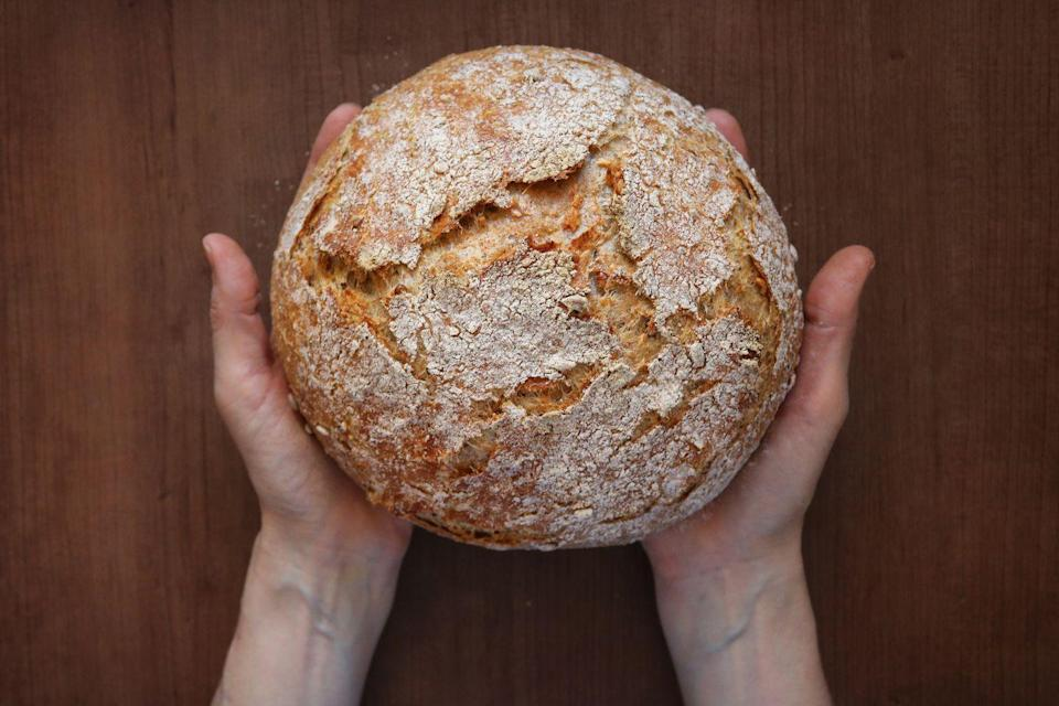 """<p>Watch our step-by-step video to find out the secret to making perfect bread.</p><p><strong>Recipe: <a href=""""https://www.goodhousekeeping.com/uk/food/cookery-videos/a657270/how-make-bread/"""" rel=""""nofollow noopener"""" target=""""_blank"""" data-ylk=""""slk:White Bread"""" class=""""link rapid-noclick-resp"""">White Bread </a></strong></p>"""