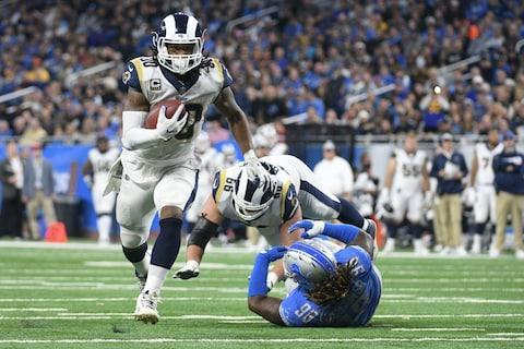 <span>Todd Gurley's two second-half touchdowns were the difference for the Rams in Detroit</span> <span>Credit: Tim Fuller/USA TODAY </span>
