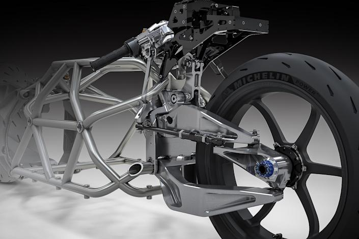 Computer renderings show just how the Voxan Wattman's aerodynamic frame works with the rest of the e-bike to achieve maximum efficiency.