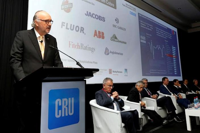 FILE PHOTO: Chilean Mining Minister Baldo Prokurica, speaks during the CRU's World Copper Conference in Santiago