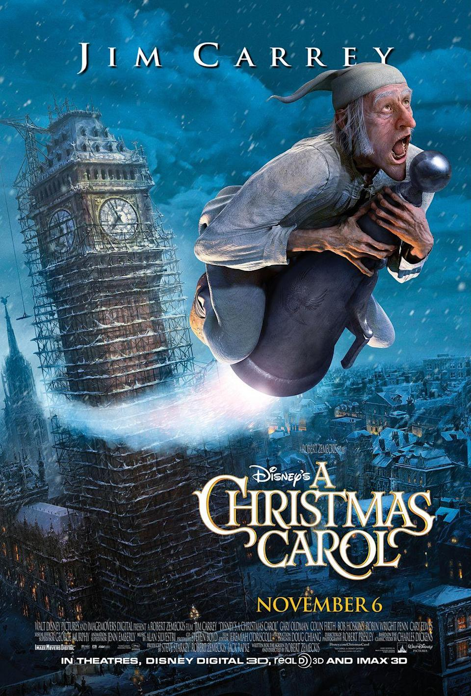 """<p>A must-watch for the entire family, Disney's animated take on the classic Charles Dickens story offers a unique visual experience (and also stars the hilarious Jim Carrey as the curmudgeonly Scrooge!).<br></p><p><a class=""""link rapid-noclick-resp"""" href=""""https://www.amazon.com/Disneys-Christmas-Carol-Jim-Carrey/dp/B004EK926K?tag=syn-yahoo-20&ascsubtag=%5Bartid%7C10055.g.1315%5Bsrc%7Cyahoo-us"""" rel=""""nofollow noopener"""" target=""""_blank"""" data-ylk=""""slk:WATCH NOW"""">WATCH NOW</a></p><p><strong>RELATED: </strong><a href=""""https://www.goodhousekeeping.com/holidays/christmas-ideas/g23601545/christmas-traditions-kids-family/"""" rel=""""nofollow noopener"""" target=""""_blank"""" data-ylk=""""slk:20+ Easy Christmas Traditions to Start With Your Family"""" class=""""link rapid-noclick-resp"""">20+ Easy Christmas Traditions to Start With Your Family</a></p>"""