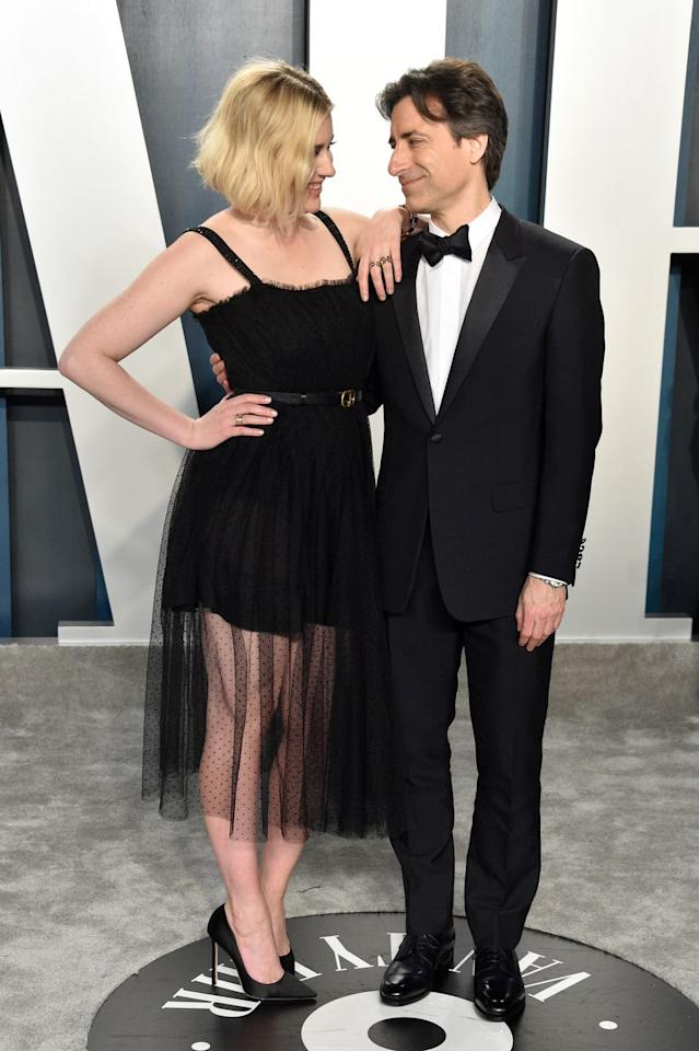 <p>Noah Baumbach and Greta Gerwig, also known as the 'first couple of film', celebrate their respective Oscar wins at the Vanity Fair after-party.</p>