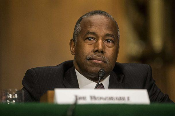 PHOTO: Housing and Urban Development Secretary Ben Carson testifies during a Senate Banking, Housing, and Urban Affairs Committee hearing on September 10, 2019, in Washington, D.C. (Zach Gibson/Getty Images)