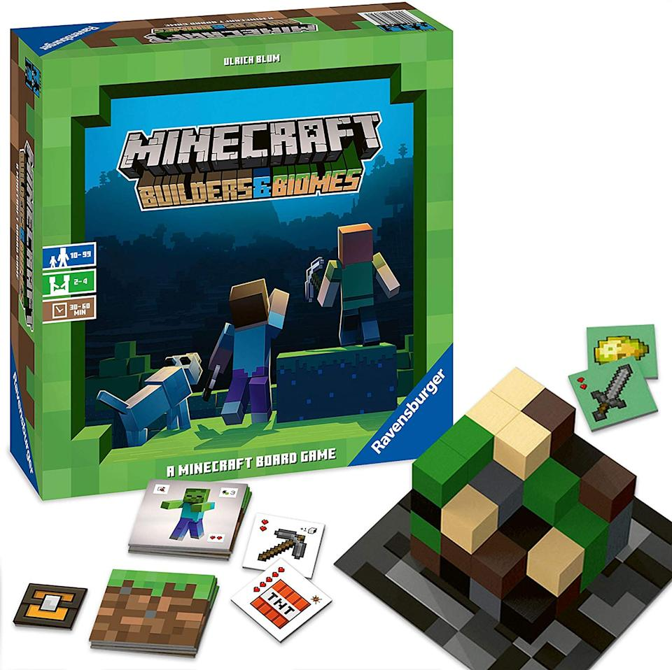 Minecraft: Builders & Biomes Strategy Board Game (Image: Ravensburger)