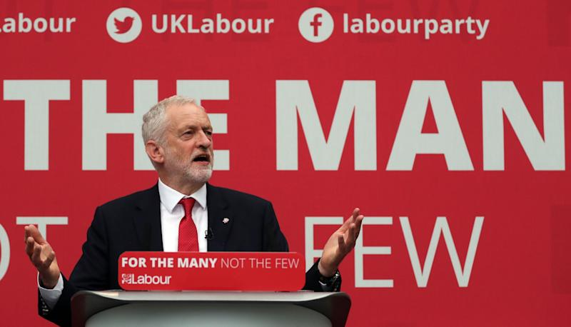 Jeremy Corbyn revealed the official Labour manifesto today (PA Images)