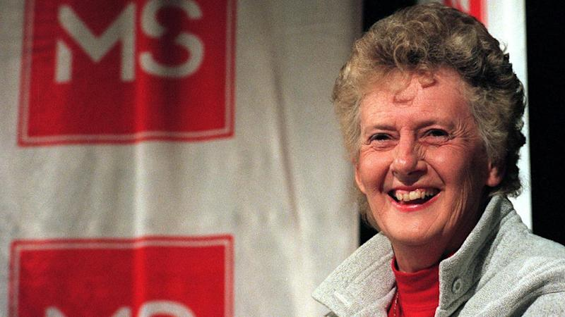"""Australia's 'golden girl' of the track, Betty Cuthbert """"went into bat"""" for MS research."""