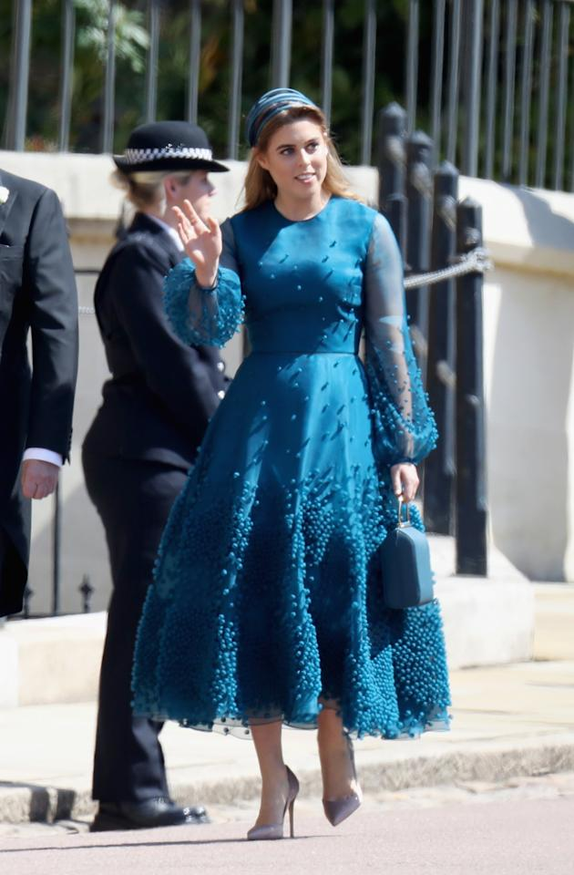 <p>For Harry and Meghan's wedding, Beatrice turned to another London Fashion Week designer: Roksanda. <em>[Photo: Getty]</em> </p>
