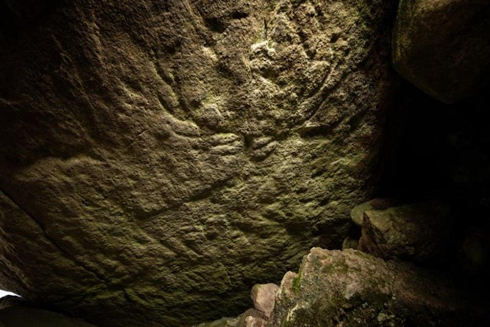 <p>The pictures were discovered by chance in an ancient burial site at Dunchraigaig Cairn</p>