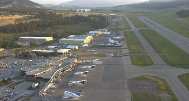 The Kelowna International Airport is welcoming back domestic flights under the third phase of B.C.'s restart plan, which allows British Columbians to travel across the country for recreational purposes. (YLW - image credit)