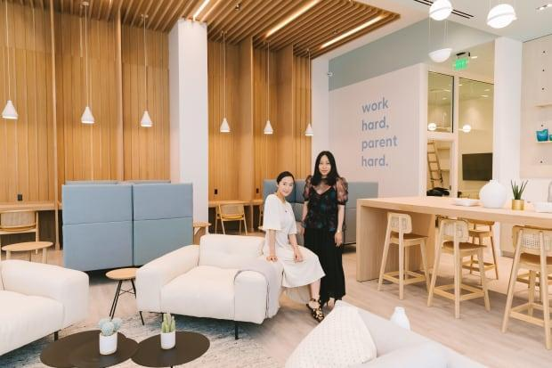 Lim, with co-founder Joan Nguyen, at BümoWork's first location, at Westfield Century City in L.A.