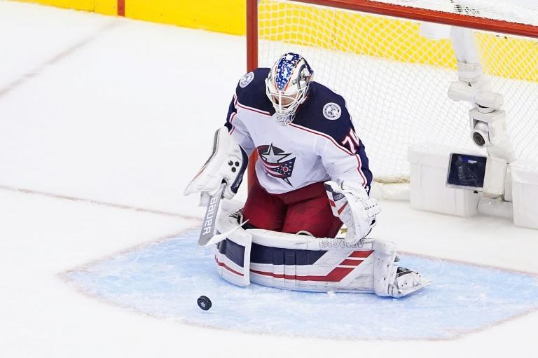 Joonas Korpisalo made 33 saves and the Columbus Blue Jackets blanked Toronto 3-0 Sunday to grab the final berth in the NHL playoffs