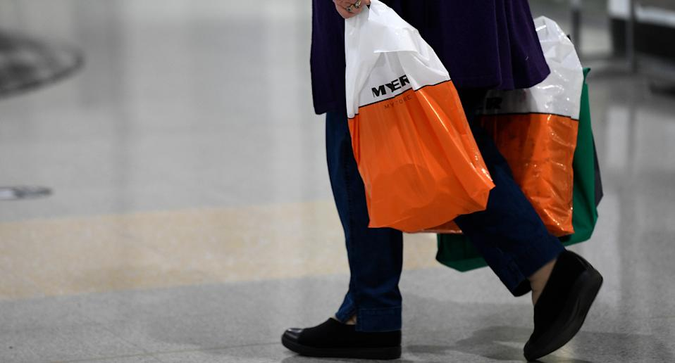 The woman called on others to boycott Myer over the store not accepting cash payments. Source: AAP