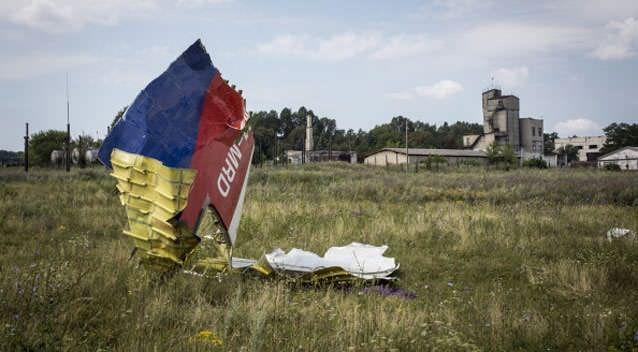 Wreckage from Malaysia Airlines flight MH17 lies in a field in Grabovo, eastern Ukriane. Photo: Getty