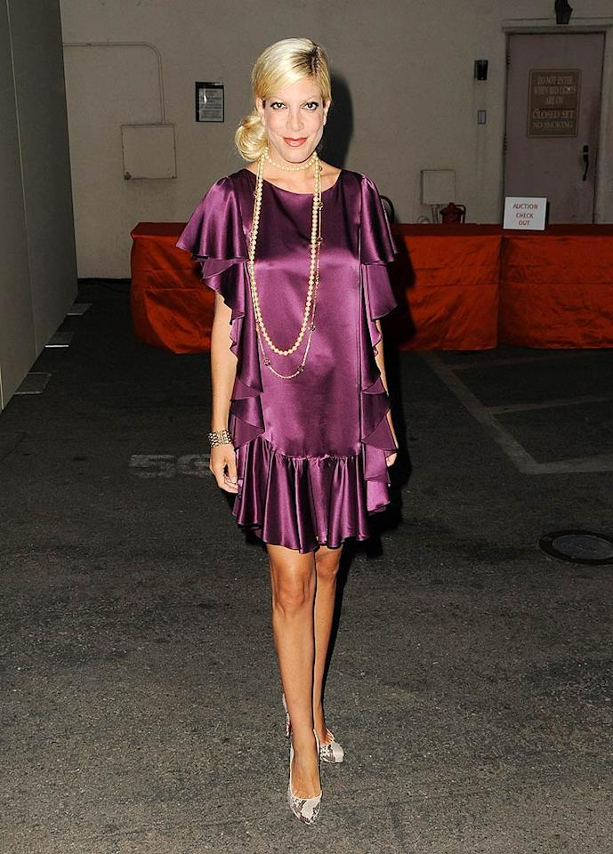 "We're so tired of seeing Tori Spelling unsuccessfully attempting to rock flapper-inspired frocks. Enough already! Jordan Strauss/<a href=""http://www.wireimage.com"" target=""new"">WireImage.com</a> - August 22, 2009"