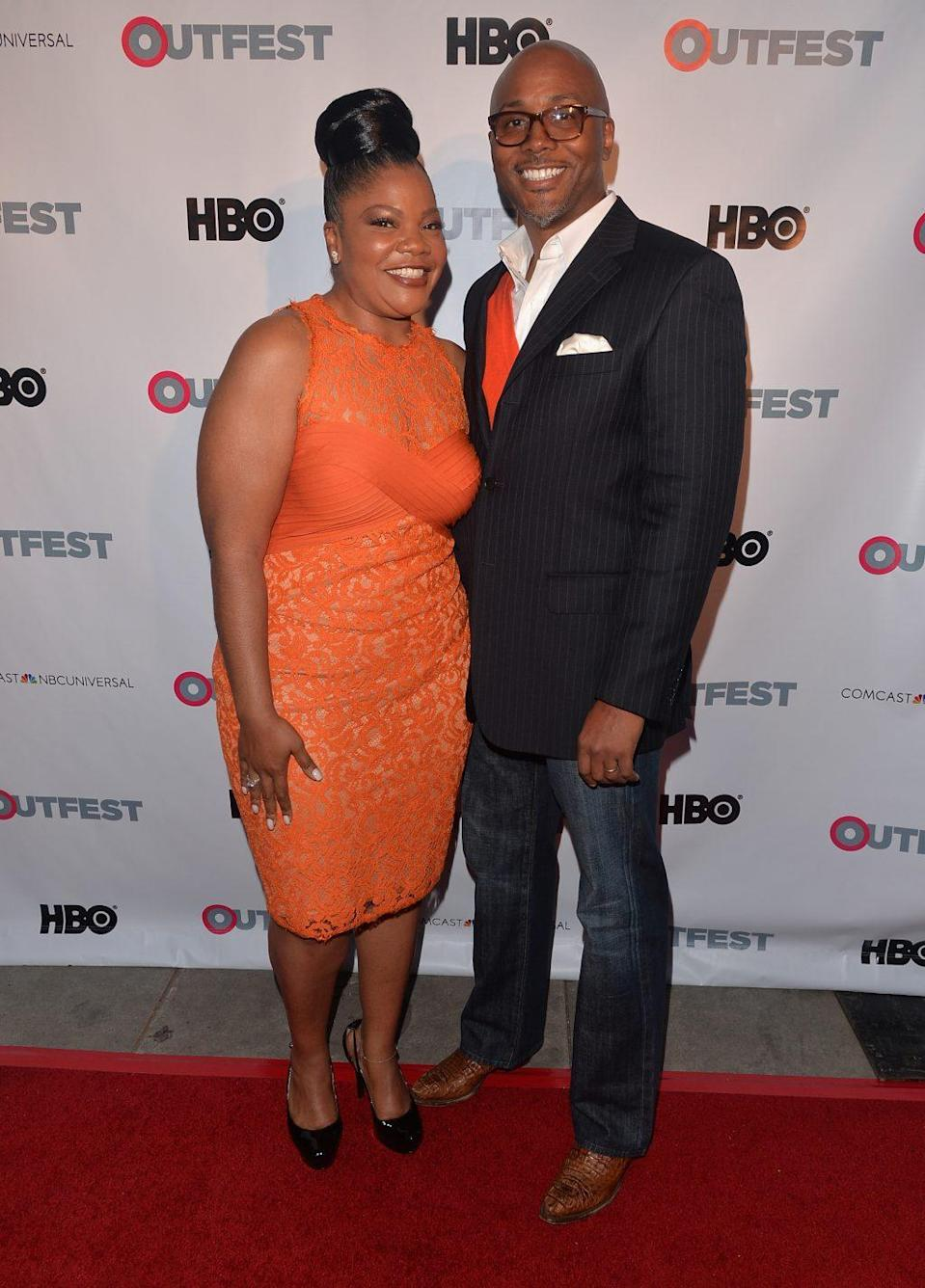 """Actress/executive produce Mo'Nique and executive producer Sidney Hicks arrive to the Outfest Fusion LGBT People of Color Film Fetival Opening Night Screening of """"Blackbird"""" at the Egyptian Theatre on March 14, 2014 in Hollywood, California. (Photo by Alberto E. Rodriguez/Getty Images)"""