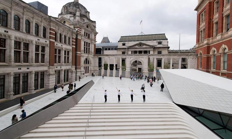 The Sackler Courtyard, a new addition to the Victoria & Albert museum in London.