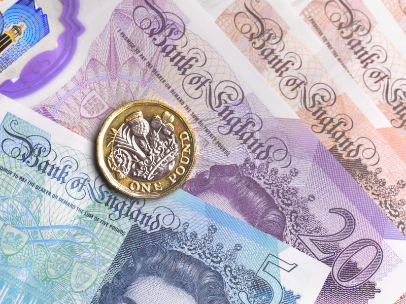 LONDON,UNITED KINGDOM - SEPTEMBER 16: Close up of British Currency on September 16,2020 in London,England. (Photo by Peter Dazeley/Getty Images)