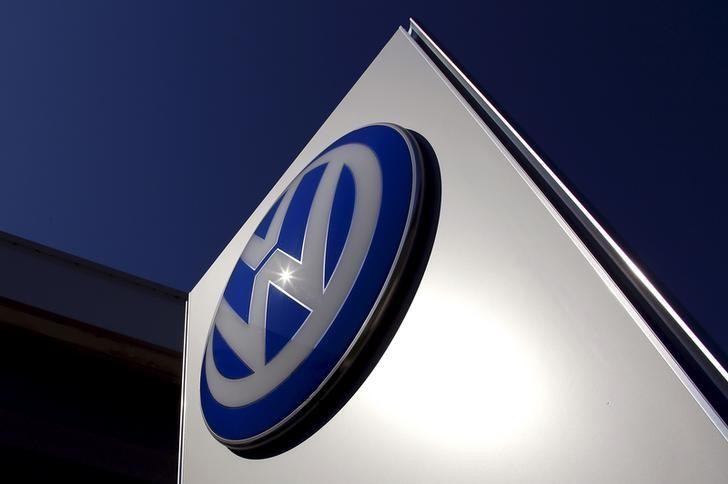 A Volkswagen logo adorns a sign outside a dealership for the German automaker located in the Sydney suburb of Artarmon