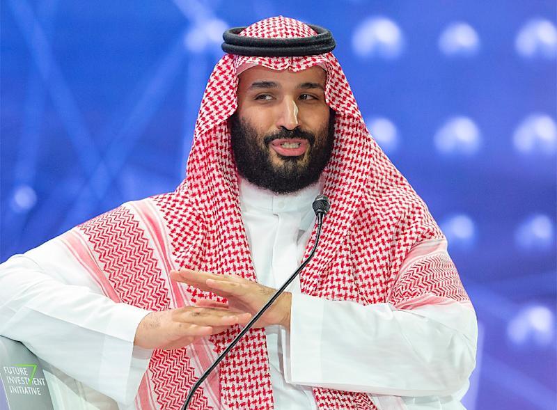 The Saudi government exonerated Crown Prince Mohammed bin Salman -- seen here at an investment forum in October 2018 -- over the murder of journalist Jamal Khashoggi