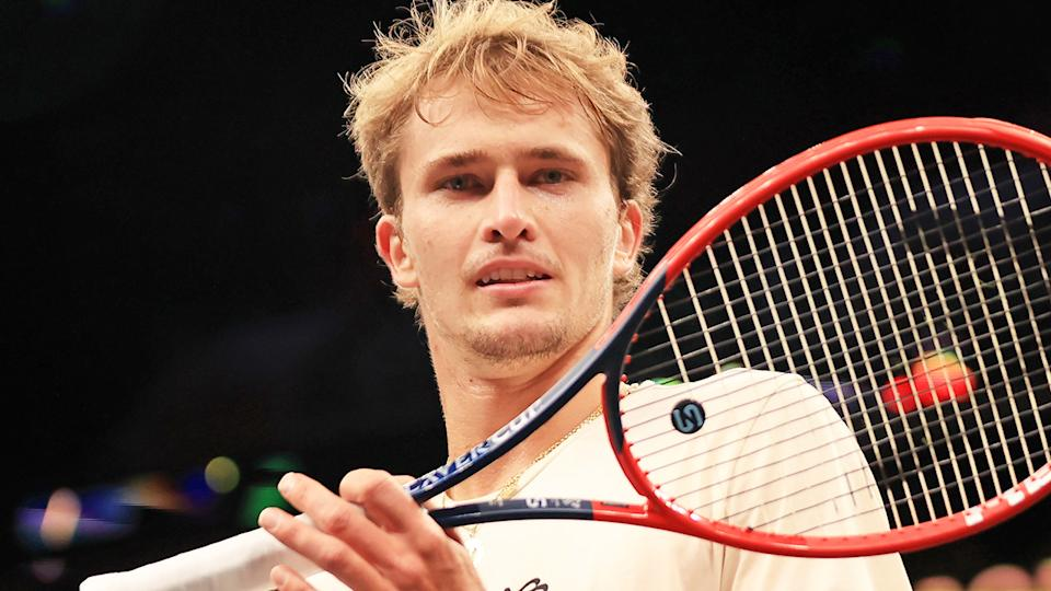 Fans have accused world No.4 Alexander Zverev of being tone-deaf in his response to the ATP investigating allegations of domestic violence levelled by his former partner. (Photo by Carmen Mandato/Getty Images for Laver Cup)