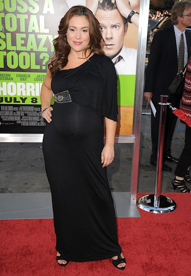 "<a href=""http://movies.yahoo.com/movie/contributor/1800043966"">Alyssa Milano</a> at the Los Angeles premiere of <a href=""http://movies.yahoo.com/movie/1810161382/info"">Horrible Bosses</a> on June 30, 2011."