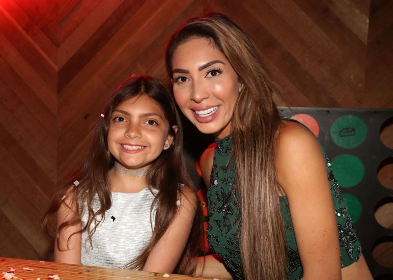 Farrah Abraham with daughter Sophia at an event
