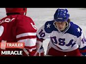 """<p><em>Miracle </em>portrays the true story of the 1980 US Olympic hockey team coached by a former player (Kurt Russell) in a bid for victory against the supposedly unbeatable Russians.</p><p><a class=""""link rapid-noclick-resp"""" href=""""https://www.amazon.com/dp/B003V5EDQ8?ref=sr_1_1_acs_kn_imdb_pa_dp&qid=1518470150&sr=1-1-acs&autoplay=0&tag=syn-yahoo-20&ascsubtag=%5Bartid%7C10063.g.37211869%5Bsrc%7Cyahoo-us"""" rel=""""nofollow noopener"""" target=""""_blank"""" data-ylk=""""slk:Watch Now"""">Watch Now</a></p><p><a href=""""https://youtu.be/Bd0_Dm2xlEM"""" rel=""""nofollow noopener"""" target=""""_blank"""" data-ylk=""""slk:See the original post on Youtube"""" class=""""link rapid-noclick-resp"""">See the original post on Youtube</a></p>"""