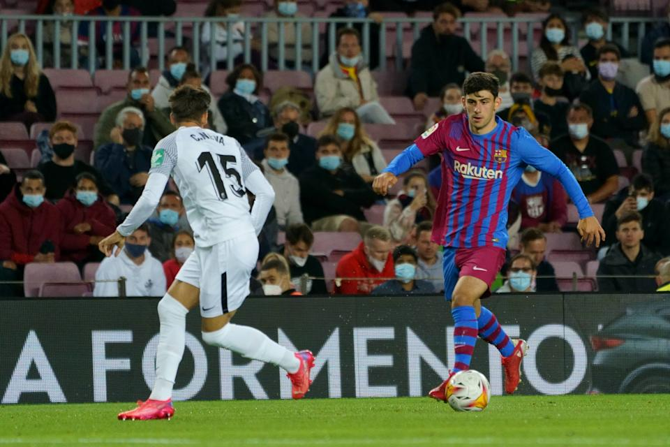 Barcelona youngster Yusuf Demir (right) in action. (PHOTO: LaLiga